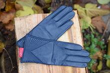 Дамски ръкавици ЕСТЕСТВЕНА КОЖА-код 037- сини