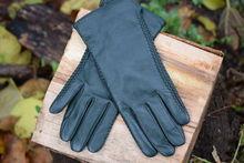 Дамски ръкавици ЕСТЕСТВЕНА КОЖА-код 040*тъмно зелени