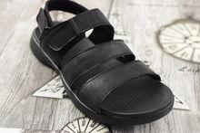 Мъжки сандали -4010 - ЕСТЕСТВЕНА КОЖА черни
