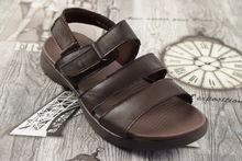 Мъжки сандали - 4010 - ЕСТЕСТВЕНА КОЖА - кафеви