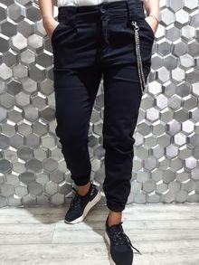 Спортно - елегантен дамски панталон ADORO - черен