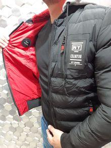 Мъжко яке с две лица черно/червено -830-
